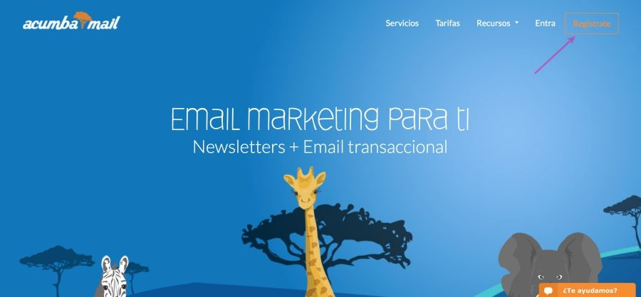 Email marketing Acumbamail