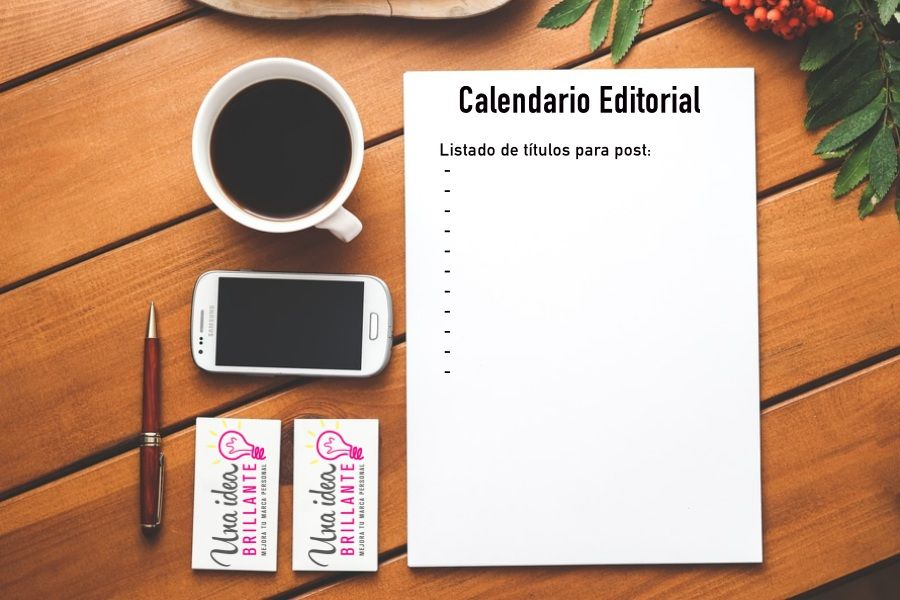planificando el calendario editorial