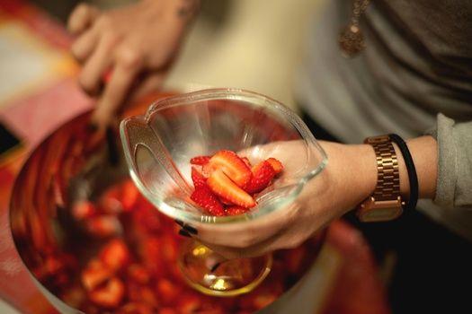 postre fresas