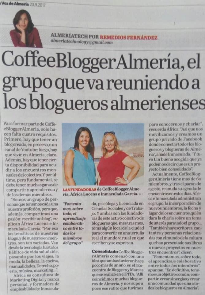 coffeebloggeralmeria en la voz de almeria